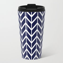 Winter 2018 Color: Ultra Blue Moon in Chevron Travel Mug