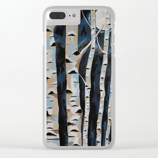 Moonlight And The Birch Clear iPhone Case