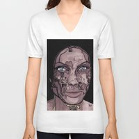 occult V-neck T-shirts featuring The occult by Joseph Walrave