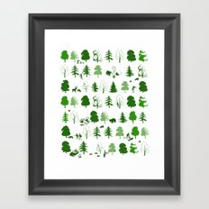If you go down to the woods today Framed Art Print