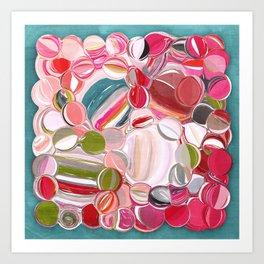 Beach Balls - Colorful Abstract Art Print