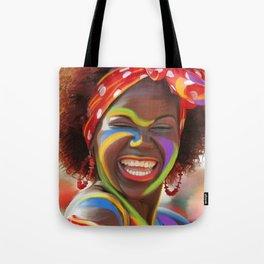 Life's a Carnival (Carnaval de Barranquilla) - Negrita Puloy Impressionism - Magical Realism Tote Bag