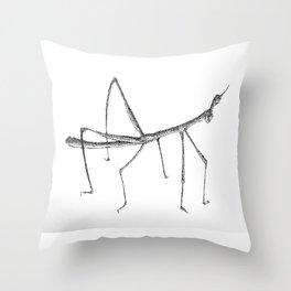 Stickbug Throw Pillow
