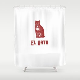 EL GATO Shower Curtain