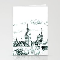 medieval Stationery Cards featuring Medieval landscape. by LaDa
