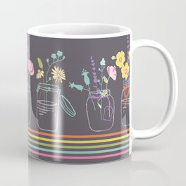 Twigs in Jars Border Coffee Mug
