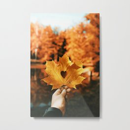 Autumn Love Metal Print