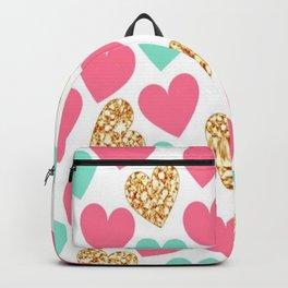 Corações brilhantes Backpack