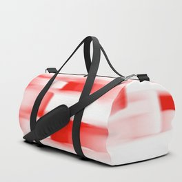 Red and White Abstract Art Duffle Bag