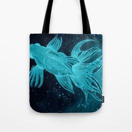 Goldfishes at night Tote Bag