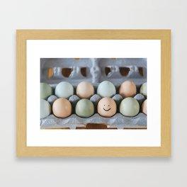 Happy Egg Framed Art Print