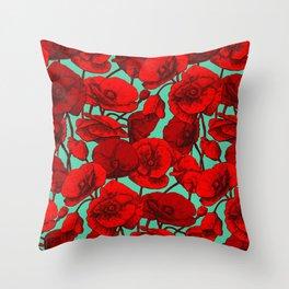 Poppies I Throw Pillow