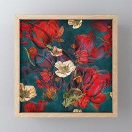 Flowers pattern Framed Mini Art Print