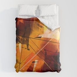 Shards of Sun - Geometric Abstract Art Comforters