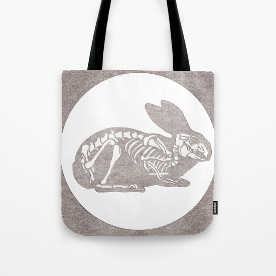 In which a rabbits anatomy is observable  Tote Bag