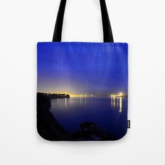 Looking toward the confluence at daybreak...  Tote Bag