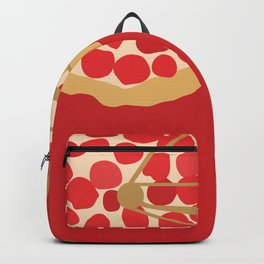 Bicycle Pizza Wheels Backpack