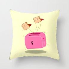 Toast! Throw Pillow