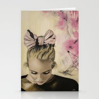 olivia joy Stationery Cards featuring Olivia by Claire Lee Art