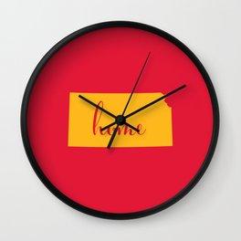 Kansas is Home - Go Chiefs Wall Clock