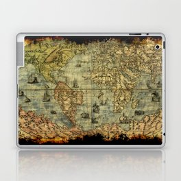 Vintage Old World Map Laptop & iPad Skin