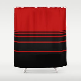 Red & Black Shower Curtain