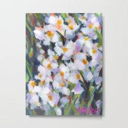 Deep in Daffodils Metal Print