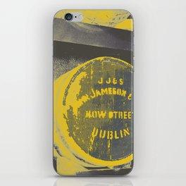 Jameson barrel art print iPhone Skin