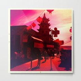 The Red Pagoda Metal Print