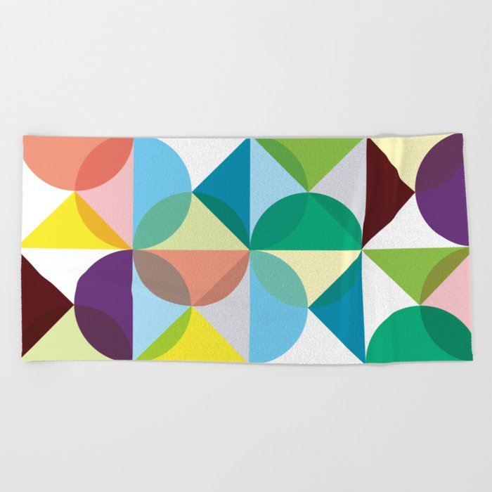 Geometric Pattern #3 Beach Towel