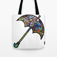 mary poppins Tote Bags featuring Mary Poppins by Ilse S