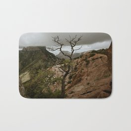 Colorful Mountaintop View with Withered Tree - Big Bend Bath Mat