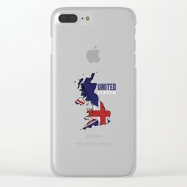 United Kingdom Of Great Britain Patriotic UK Flag Clear iPhone Case