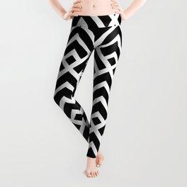 Arrows Geometric Pattern White and Black Leggings