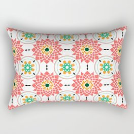 morrocan pink mandala pattern no4 Rectangular Pillow