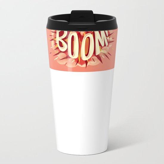 Heart went boom Metal Travel Mug