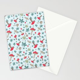 Tiny Toadstools on Mint Stationery Cards