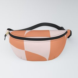 Mid Century Design in Burnt Orange and Blush Fanny Pack