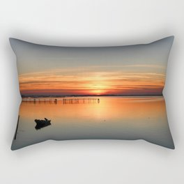 Sunset in Porto tolle Italy Rectangular Pillow