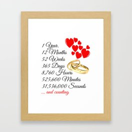 ONE YEAR ANNIVERSARY Gift Warming gift quote Framed Art Print