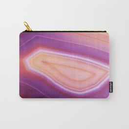 Purple Striped Agate Carry-All Pouch