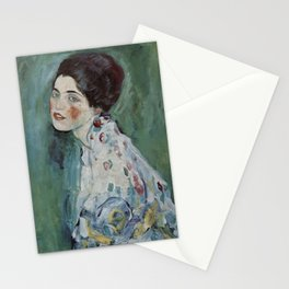 Stolen Art - Portrait of a Lady by Gustav Klimt Stationery Cards