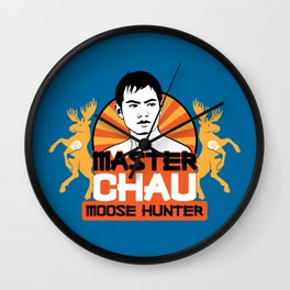 Master Chau: Moose Hunter Wall Clock