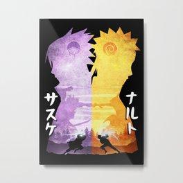 Minimalist Silhouette Rival Metal Print