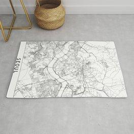 Seoul White Map Rug