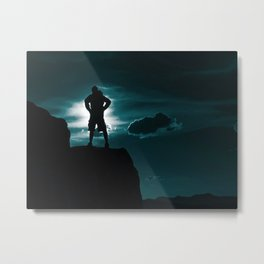 Silhouette in the Sky Metal Print