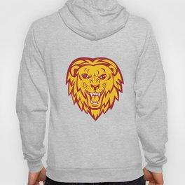 Angry Lion Big Cat Head Roar Hoody