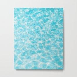 Blue mosaic swimming pool Metal Print