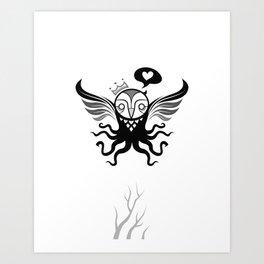 unlike any owl Art Print