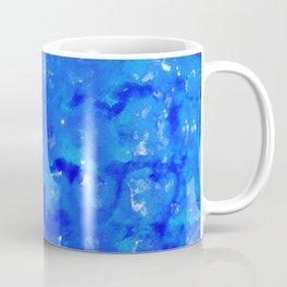 Tie Dye Shibori Water Cubes in Ocean Blue Coffee Mug